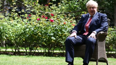 Prime Minister Boris Johnson in Downing Street. Photograph: Hannah McKay/PA Wire.