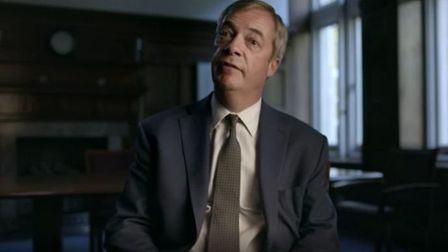 Nigel Farage appears on the BBC documentary about Rupert Murdoch. Photograph: BBC.