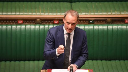 Dominic Raab in the House of Commons. Photograph: Jessica Taylor/House of Commons/UK Parliament.