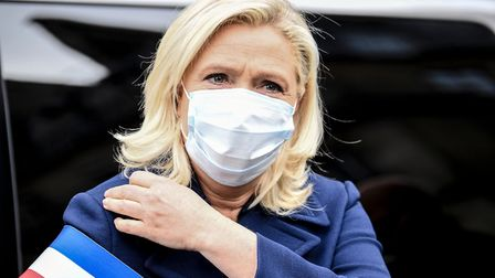 French far-right party Rassemblement National's (RN) deputy Marine Le Pen. (Photo by ALAIN JOCARD/AF