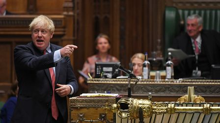 Boris Johnson in the House of Commons. Photograph: Jessica Taylor/House of Commons.