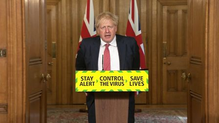 Prime minister Boris Johnson during a media briefing in Downing Street; PA Video/PA Wire