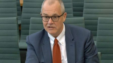 Sir Patrick Vallance, government chief scientific advisor, giving evidence as he attends a session o