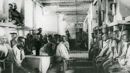 Prisoners of the Vorkuta Gulag (Vorkutlag) - one of the major Soviet labor camps, Russia, Komi Repub