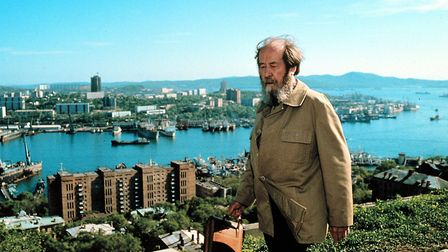 Alexander Solzhenitsyn poses during his journey through Siberia upon his return from the USA on May