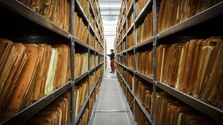 The archive of the Stasi - the former east German secret police - in Berlin. Picture: Thomas Trutsch