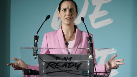 Annunziata Rees-Mogg, former MEP for the Brexit Party, addresses party members and delegates; Christ