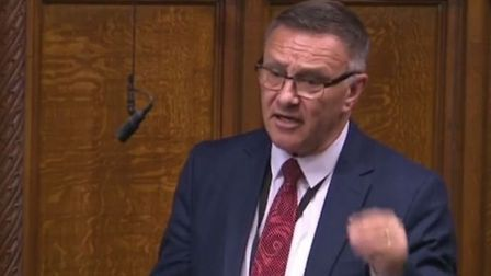 Tory MP Craig Whittaker in the House of Commons; Parliament tv