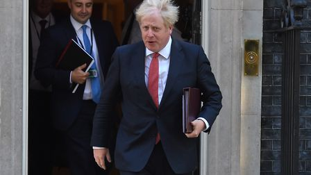 Prime Minister Boris Johnson leaves 10 Downing Street in an archive picture. Photograph: Kirsty O'Co