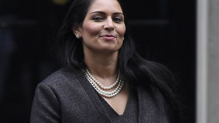 Priti Patel, Secretary of State for the Home Department leaves Downing Street; Photo by Peter Summer