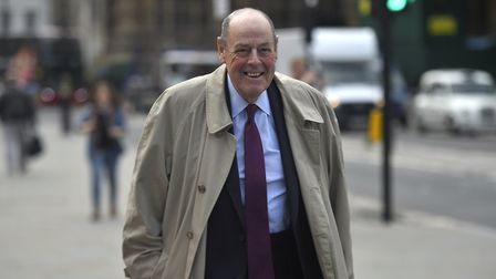 Former MP Sir Nicholas Soames arrives at Parliament on September 30, 2019 in London, England; Photo