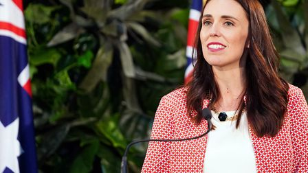 New Zealand's Prime Minister Jacinda Ardern attends a press conference. (Photo by Diego OPATOWSKI /
