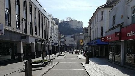 Torquay high street during lockdown