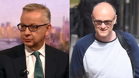 Public First's directors have previous worked with Michael Gove (L) and Dominic Cummings; Archant, B