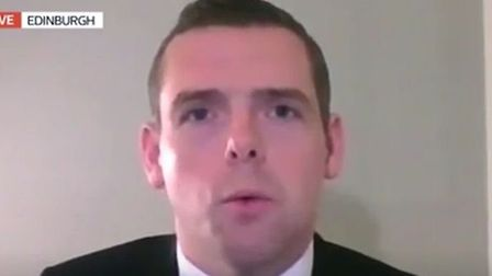 Scotland's Tory Party leader, Douglas Ross, live on Good Morning Britain; Twitter
