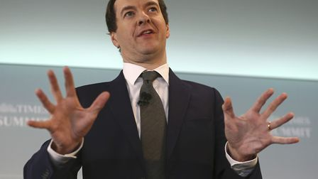 Former chancellor George Osborne speaks at The Times CEO summit in London. Photo: PA Media