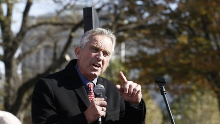 """WASHINGTON, DC - NOVEMBER 15: Robert Kennedy Jr. speaks during """"Fire Drill Friday"""" climate change p"""