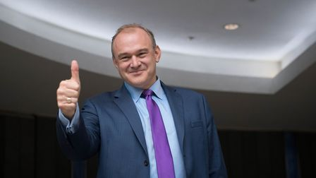 Sir Ed Davey at the Conrad Hotel, Westminster, London after he has been elected as the leader of the