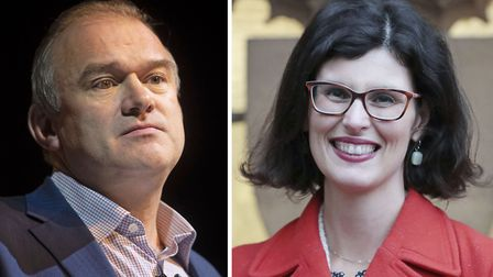Sir Ed Davey and Layla Moran. Davey and Moran are both vying to become the party's new leader after