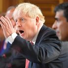 Prime Minister Boris Johnson chairs a Cabinet meeting at the Foreign and Commonwealth Office in London, ahead of MPs returnin...