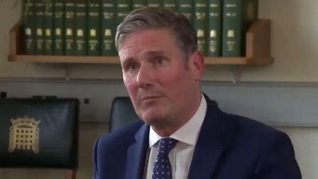 Keir Starmer is asked for his views on Brexit. Photograph: Sky News.