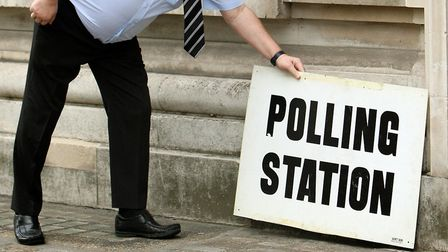 A polling station at the general election. Picture: Dominic Lipinski/PA.