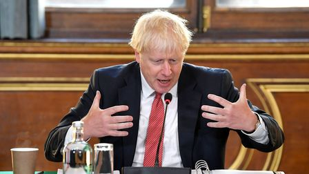 Prime Minister Boris Johnson chairs a Cabinet meeting at the Foreign and Commonwealth Office in Lond