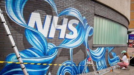 A mural of the NHS; picture source: Rosie Woods