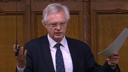 David Davis speaks in the House of Commons. Photograph: Parliament TV.