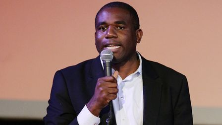 David Lammy speaking during the London Labour hustings; Yui Mok