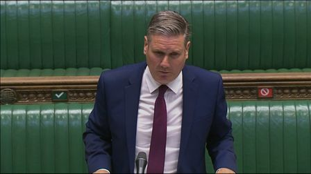 Labour leader Keir Starmer speaks during Prime Minister's Questions. Photograph: House of Commons.