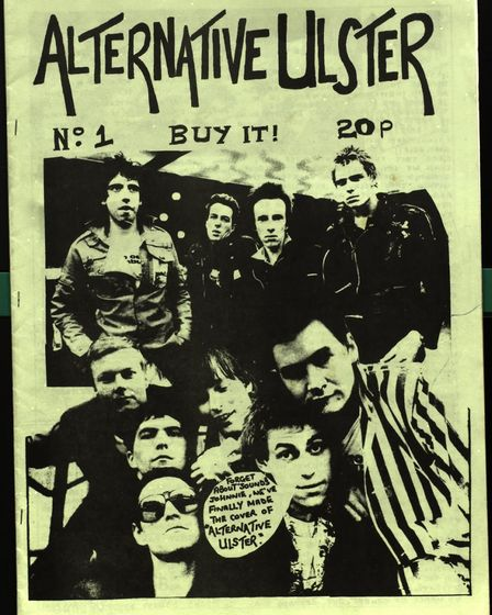 Poster for Alternative Ulster, the fanzine that provided the title for Stiff Little Fingers' 1978 si
