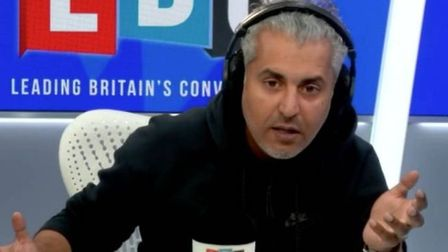 LBC's Maajid Nawaz called on Remainers to accept the referendum result. Photograph: LBC/Global.