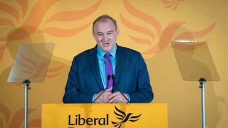 Sir Ed Davey speaks after he was elected as the leader of the Liberal Democrats. Photograph: Stefan