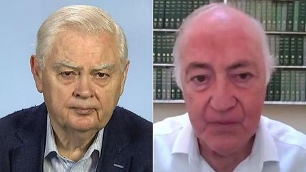 Former Tory chancellor Lord Norman Lamont (L) and leader Michael Howard (R) have criticised changes