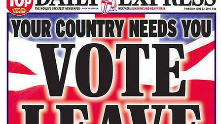 The Daily Express campaigned vigorously for Brexit. Photo: Express