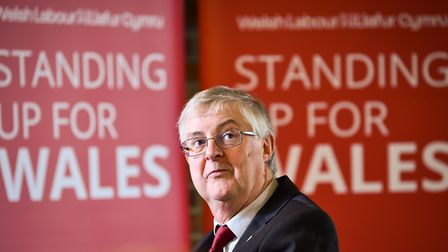 Welsh Labour Leader Mark Drakeford AM, at the launch of the Welsh Labour Party campaign in Cardiff;