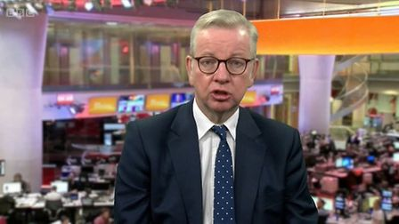 Michael Gove appears on BBC Breakfast. Photograph: BBC.