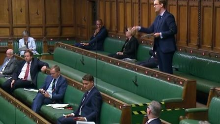 Labour's Darren Jones in the House of Commons. Photograph: Parliament TV.