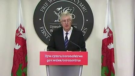 First minister of Wales Mark Drakeford. Photograph: BBC.