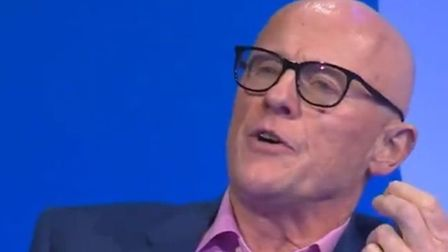Phones4u founder John Caudwell on Question Time. Photograph: BBC/Twitter.