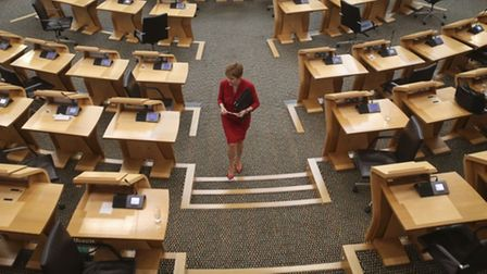 First minister Nicola Sturgeon at the Scottish Parliament
