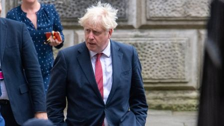 Prime minister Boris Johnson leaves the Foreign and Commonwealth Office in London