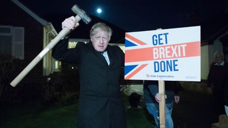 Boris Johnson during the general election campaign.