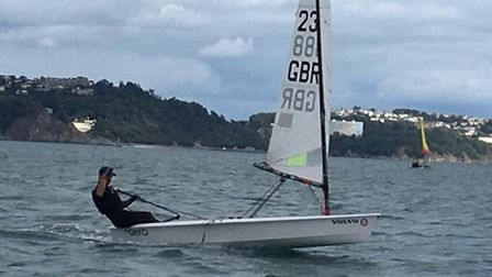 Action from the summer dinghy regatta