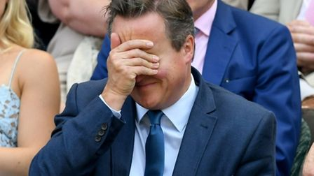 David Cameron facepalms.