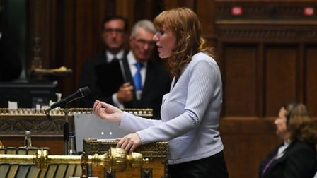 Deputy Labour leader Angela Rayner speaking at Prime Minister's Questions in the House of Commons