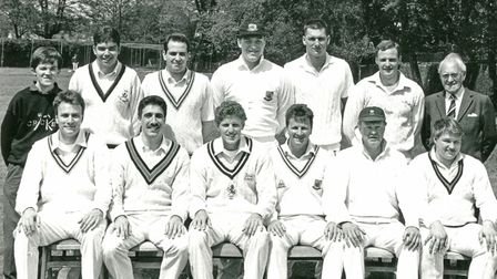 Torquay Cricket Club 1992 - Fanie is third from the left seated