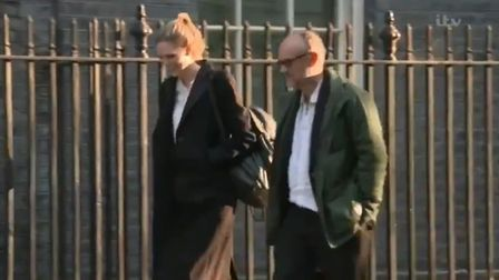 Dominic Cummings heads to Downing Street.