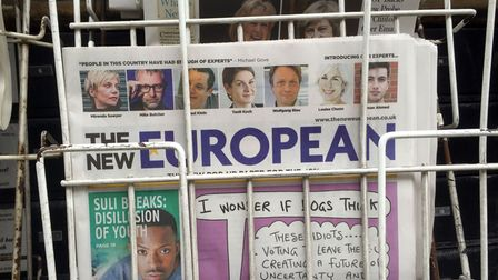 The first edition of The New European on newsstands